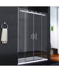 Shower Bath 1600 Aqua I8 Frameless Double Sliding Shower Door 1600mm X 1950mm High