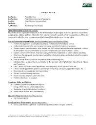 Good Customer Service Skills Resume Patient Access Representative Resume Resume For Your Job Application
