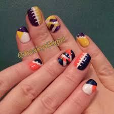 chicago bears u0026 minnesota vikings nail art nfl nails my nails