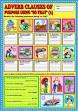 English teaching worksheets: Purpose clauses