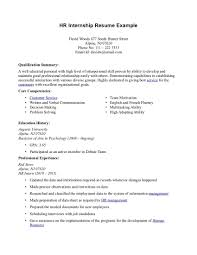 Sample Objectives In Resume For It by Resume For Internship Example