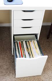Desk With File Cabinet Ikea by Office Space With The Ikea Alex System And Linnmon Table Tops