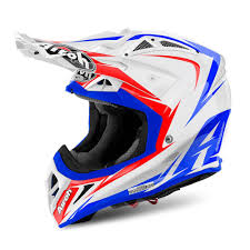 white motocross helmets airoh for sale airoh aviator 2 2 edge offroad white red blue