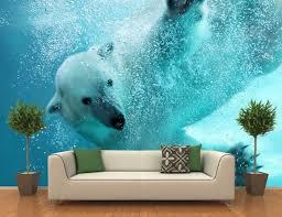 Golf Murals by Polar Bear Underwater Attack Wall Mural Gadget Flow
