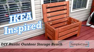 Rustic Wooden Bench With Storage Diy Rustic Outdoor Storage Bench Youtube
