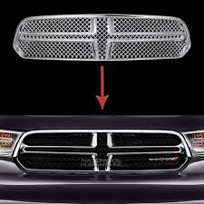 2014 15 2016 dodge durango chrome grille overlay front full grill