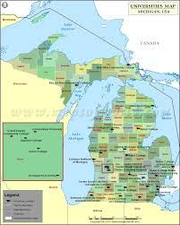 Detroit Michigan Map by Map Of Universities And Colleges In Michigan