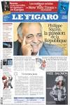 Newspaper Le Figaro (France). Newspapers in France. Fridays.