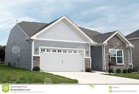 condo with two car garage royalty free stock photography image