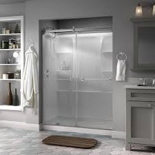 shower stall glass doors delta silverton 60 in x 71 in semi frameless contemporary