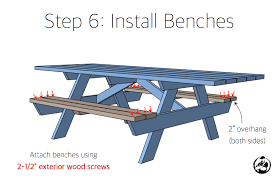 Building Plans For Picnic Table Bench by Wheelchair Accessible Picnic Table Rogue Engineer