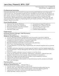 resume objective for pharmacist pharmacy manager resume resume for your job application professional assistant pharmacy manager templates to showcase your talent myperfectresume walgreens resume