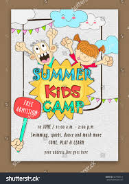 Sport Invitation Card Summer Kids Camp Template Banner Flyer Stock Vector 427982614