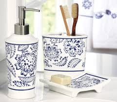 White Bathroom Accessories Set by Westbrook Blue U0026 White Bathroom Accessory Set For The Home