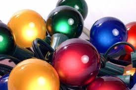 amazon com set of 15 multi satin g50 globe christmas lights
