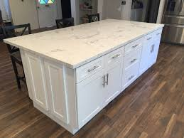 Kitchen Cabinets Culver City White Shaker Full Overlay Kitchen Cabinets With Quartz Carrara