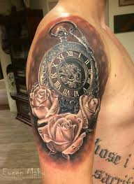 Miami Ink Flower Tattoo Designs - best 25 clock and rose tattoo ideas on pinterest clock tattoos