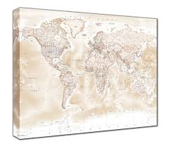 World Map Canvas by Map Canvas Political World Map Antique From Love Maps On