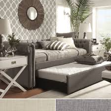 Linen Daybed Tribecca Home Knightsbridge Tufted Scroll Arm Chesterfield Daybed