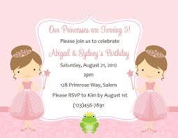 princess birthday invitations card invitation ideas card