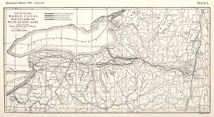 New York State Map erie canal maps
