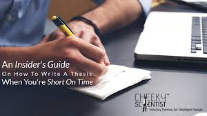 Lear how to write a thesis   Cheeky Scientist   guide to writing a PhD thesis