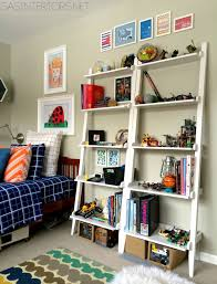 Container Store Bookshelves Decorating With Leaning Ladder Shelves Jenna Burger