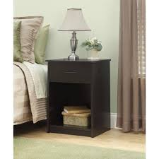 Bedroom Furniture Espresso Finish Mainstays Nightstand End Table Espresso Walmart Com