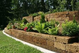 Backyard Retaining Wall Ideas And Terraced Gardens - Landscape wall design