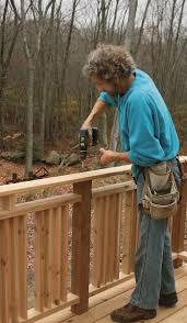 Finehomebuilding Site Built Deck Railings Fine Homebuilding