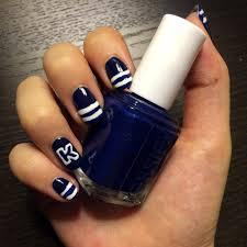 varsity letter nail art design popsugar beauty