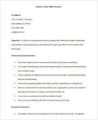 Best Resume Format For Freshers Engineers