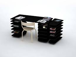 cool office desk design with bright home office interior design
