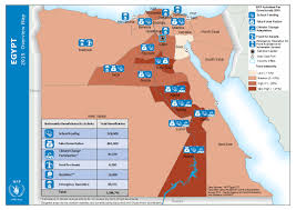 Map Egypt Egypt 2015 Overview Map Food Insecurity As Of 10 May 2015