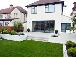 Raised Beach House by Rendered Walls Raised Beds For House Refurbishment Beach House