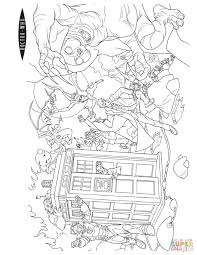 action scene from doctor who coloring page free printable