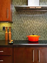 contemporary kitchen backsplash glass tile green echipse sea
