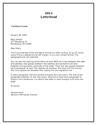 Example Of A Modified Block Style Business Letter by Letter Format Formal Letter Template