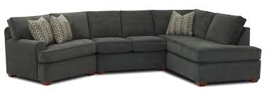 Klaussner International Hybrid Sectional Sofa With Right Facing Sofa Chaise By Klaussner