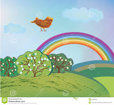 Image result for spring pics of rainbows