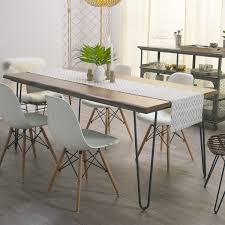 dining table with hairpin legs butcher block table on iron hairpin