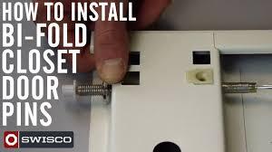 Bifold Closet Door Locks how to install bi fold closet door pins youtube