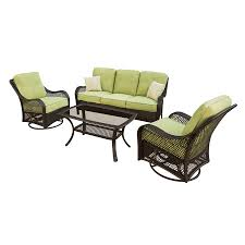 Lowes Patio Furniture Sets by Shop Hanover Outdoor Furniture Orleans 4 Piece Wicker Patio