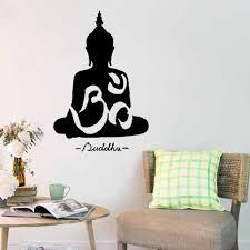 online get cheap buddha wall sticker aliexpress com alibaba group 50 75cm home decor wall sticker buddhism buddha meditation wall sticker decal vinyl art home