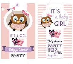 Baby Shower Invitation Cards Templates Baby Shower Invitation Card Template With Cute Owl Royalty