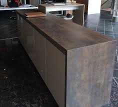 Iron Kitchen Island by Island With Waterfall In Iron Moss Neolith In The Ultimate