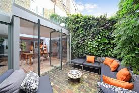 small condo living patio contemporary with indoor outdoors