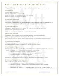 Position Essay Self Checklist   Writing Teacher Tools Writing Teacher Tools