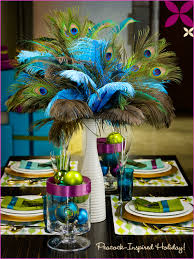 Gorgeous peacock wedding decoration ideas