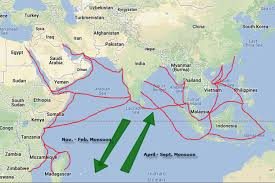 Ancient India Map by Indian Ocean Trade Routes Asian History